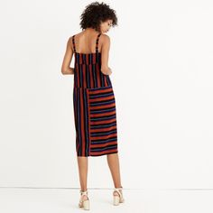 Madewell x Silk Patchwork Shift Dress in Multi-Stripe No 6, Cool Fabric, Madewell, Cold Shoulder Dress, Style Inspiration, Silk, Denim, Jeans, Clothes