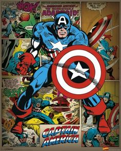 Marvel Comics - Captain America Retro - largest licensed distributor and wholesaler of posters, prints, memorabilia, frames and display units in Australia Poster Marvel, Marvel Comics, Ms Marvel, Bd Comics, Marvel Art, Marvel Heroes, Captain America Poster, Marvel Captain America, Capitan America Comic