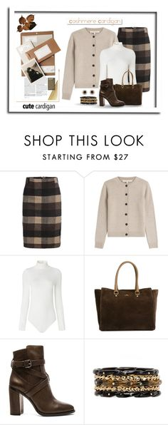 """""""Essential Cardigan"""" by terry-tlc ❤ liked on Polyvore featuring White Label, Vanessa Bruno, Falke, Hogan, Vince Camuto, Ashley Pittman, Accessorize and mycardi"""