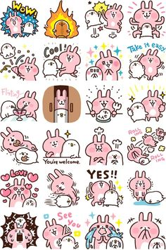 Have You Heard of Piske, Usagi, and Kanahei, Adorable Characters Loved in Japan? Emoji Stickers, Cartoon Stickers, Kawaii Stickers, Cute Stickers, Kawaii Doodles, Cute Doodles, Japanese Characters, Cute Characters, Cake Logo Design