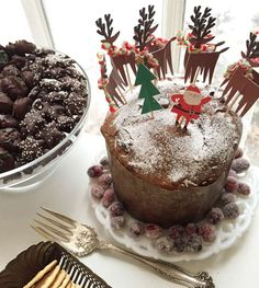 What a great way to decorate a panettone for a  Christmas party! See more party ideas and share yours at CatchMyParty.com #christmas #cake