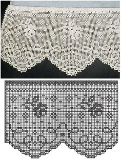 Artifice is onderworpen aan compliment . Crochet Boarders, Crochet Lace Edging, Crochet Art, Crochet Home, Thread Crochet, Crochet Doilies, Filet Crochet Charts, Crochet Diagram, Tatting Patterns