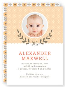 Walgreens Laurel Wreath Birth Announcement