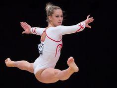 Giulia Steingruber beeindruckte an der WM bei ihrer Bodenübung mit gewaltiger Sprungkraft