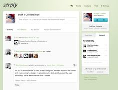 Zerply Dashboard User Experience Design, User Profile, Finding Yourself, Messages, Activities, Inspiration, Biblical Inspiration, Inhalation, Profile