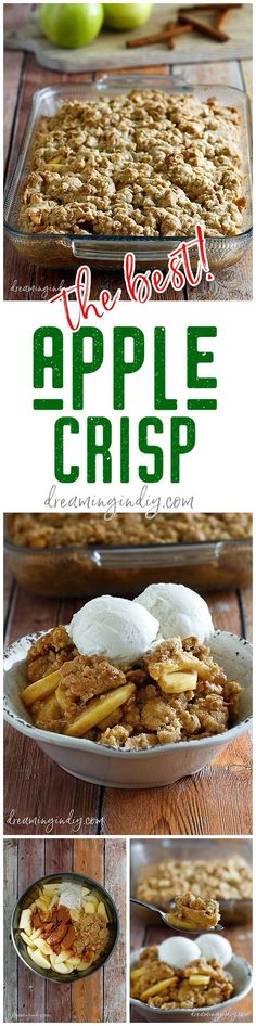 The Best Easy Apple Crisp Recipe - Classic Fall and Winter Dessert Family Favorite for Thanksgiving and Christmas Dinner parties