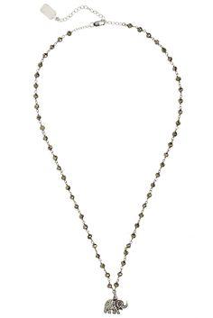 Diamond Embellished Elephant Necklace