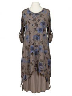 Damen Kleid Baumwolle 2-tlg., schlamm von Diana bei www.meinkleidchen.de