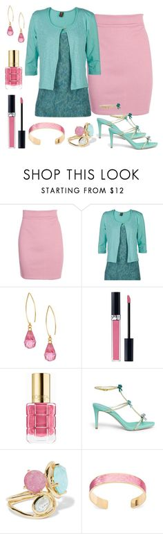 """""""Untitled #669"""" by rosiepeter ❤ liked on Polyvore featuring Boohoo, Ojai Clothing, Christian Dior, L'Oréal Paris, René Caovilla, Ippolita and Aspinal of London"""