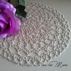 Center tatting cotton beigecentro a chiacchierino di Acasaconmanu