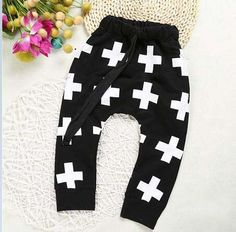 CP165-1Hot sale size cotton children harem pants for baby girls trousers boys clothes black skull kids child spring autumn