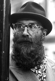 Mark: Catherine Street, London Best glass and beard combo Badass Beard, Epic Beard, Great Beards, Awesome Beards, Moustaches, Hipsters, Barba Grande, Hair And Beard Styles, Hair Styles