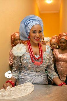 Light blue Nigerian wedding, Nigerian bride, wedding digest Naija. Follow @chiefwedslolo for more blue Nigerian weddings!
