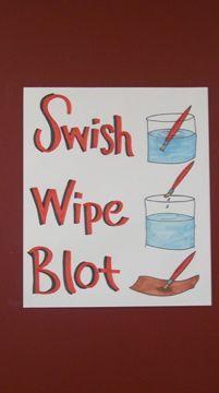 Swish Wipe Blot - That Little Art Teacher: Elementary Art Blog with GREAT classroom management ideas!