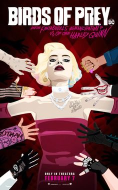 Create artwork inspired by the new Birds of Prey film, and its collective force of dynamic and powerful women. Arlequina Margot Robbie, Margot Robbie Harley Quinn, Harley Quinn Drawing, Joker And Harley Quinn, Harley Quinns Daughter, Hearly Quinn, Stained Glass Birds, Comics Girls, Dc Comics