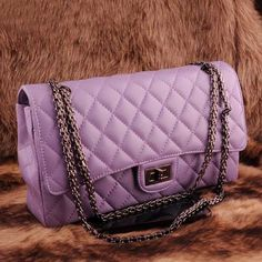 A touch of elegance. Romantic lavender purple leather clutch #EveningBag
