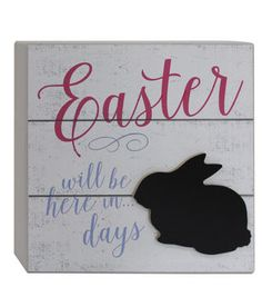 Easter Word Block-Easter Will Be Here in Days