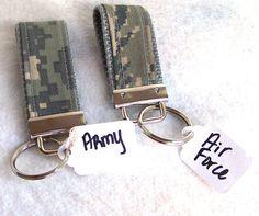 Mini Military Key Fob Air Force ABU Army by GabbysQuiltsNSupply, $2.50