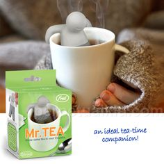 MISTER TEA INFUSER    He's no fool, Mister Tea is an ideal tea-time companion.  Our Mister Tea Infuser is fun and easy to use!  Just load his little silicone pants, perch him in your cup, relax for a minute as he does the work and then savor your perfect orange pekoe.      Throw some tea in your trousers!    Molded from food-safe, tasteless, soft silicone rubber.   # Pinterest++ for iPad #