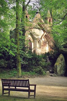 Arkadia Park, Poland - so romantic place, worth to see Oh The Places You'll Go, Places To Travel, Places To Visit, Beautiful World, Beautiful Places, Peaceful Places, Poland Travel, Gothic House, Gothic Castle