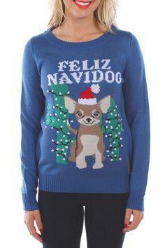 dfc65478c Tipsy Elves Feliz Navidog Sweater Tipsy Elves