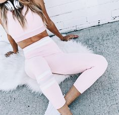 Pretty in Pink Gym Set Cute Workout Outfits, Workout Attire, Sporty Outfits, Athletic Outfits, Athletic Wear, Workout Wear, Cute Outfits, Workout Fitness, Sport Fashion