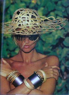 Michelle Eabry for Elle France, February 1st, 1988. Photography by Gilles Bensimon