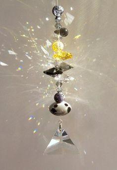 "Sun Catcher - ""Stormy Days"" #suncatcher #crystal"