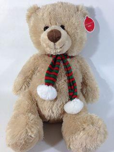 "Animal Adventure Teddy Bear NOEL Plush Brown Stuffed Toy JUMBO 20"" NWT Scarf  #AnimalAdventure #AllOccasion"