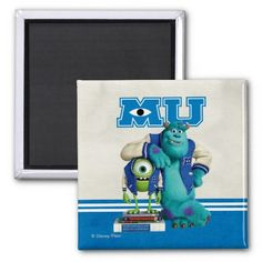 Mike and Sulley MU Fridge Magnets $3.65 Cool Monsters, Monsters Inc, Mike And Sulley, Monster University, Refrigerator Magnets, Paper Cover, Disney Pixar, Smurfs, Kids Room