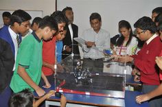 The #Humanoid #Robot #competition for the final place in the Pune leg of Humanoid category between 2 best of the #school teams