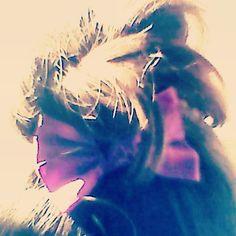 My messy bun!!!