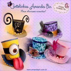 cartolinhas + casamento + festa infantil + amanda pin