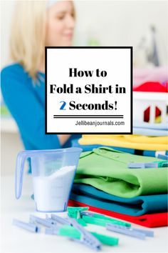 Cut down on laundry time by learning how to fold a shirt fast using this simple technique! | Jellibeanjournals.com Best Cleaning Products, Cleaning Hacks, Things To Know, Good Things, Laundry Business, Laundry Hacks, Laundry Rooms, Home Economics, Business Shirts
