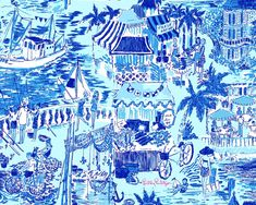 Lilly Pulitzer - Fresh Catch Toile -  2010