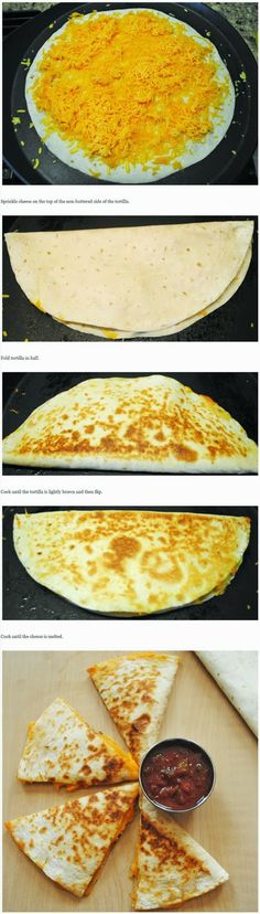 How to make simple and quick Cheese Quesadillas.