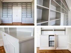Platsbyggd bokhylla New Homes, Bookshelves Built In, Home Crafts, Bookshelves, House Rooms, Bookcase, Home, Interior, Home Decor