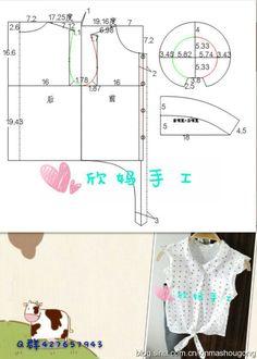 유아동복 패턴 Baby Girl Dress Patterns, Dress Sewing Patterns, Clothing Patterns, Baby Sewing Projects, Sewing For Kids, Fashion Sewing, Kids Fashion, Frocks For Girls, Kids Patterns