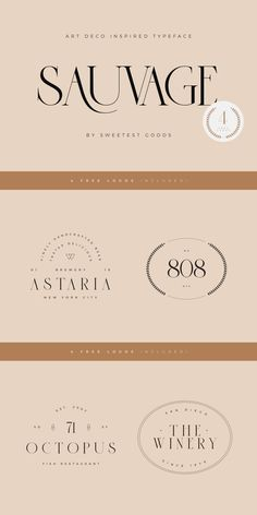 Sauvage Font + 4 Free Logos - Allura Source You are in the right place about flower Design Here we o Lettering, Typography Letters, Typography Design, Branding Design, Logo Branding, Branding Template, Corporate Branding, Brand Identity, Free Logos