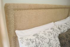 so smart - use a foam mattress pad when making an upholstered headboard for much less than upholstery foam