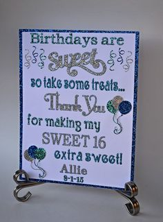 Candy Bar Sign / Sweet 16 Candy Bar Sign / by TwinPerfection2