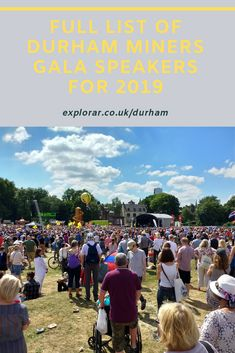 Durham Miners Gala 2019 is almost here and the speeches on the Racecourse will be a highlight as usual. Here are the Durham Miners Gala speakers for Industrial Strategy, St Johns College, Road Closure, Large Crowd, Attorney General, Durham, Speakers, Highlight, England
