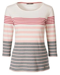 Brax Ringelshirt (grau) - Shirts & Tops - Bekleidung - Damenmode Online Shop - Frankonia.de
