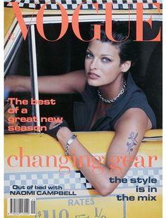 British Vogue September 1992. Photographer Peter Lindbergh. Model Linda Evangelista