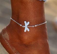 925 Silver plated Butterfly Anklet Pearl Leg Bracelet Beach Jewellery Box Gift A Beaded Foot Jewelry, Dragonfly Jewelry, Beach Jewelry, Trendy Fashion Jewelry, Silver Anklets, Ankle Bracelets, Silver Color, Jewlery, Jewellery Box