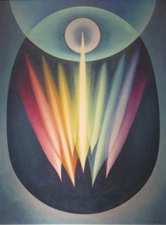 Cosmic Egg Series No. 1 (Creative Forces), 1936 by Emil J. Bisttram on Curiator, the world's biggest collaborative art collection. Cosmic Egg, Psy Art, Collaborative Art, True Art, Abstract Painters, Abstract Art, Geometric Art, Sacred Geometry, Mystic