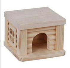NEW Natural Wooden Hamster House Toys FOR Hamster 10 5CM×10CM×8CM H   eBay