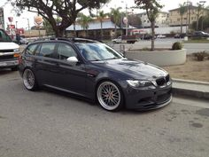 modified 3-series wagon with M3 front end