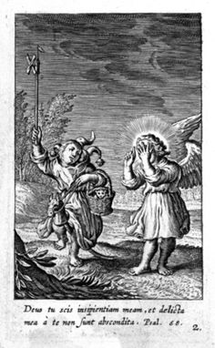 "from Herman Hugo, ""Pia Desideria"" (Antwerp, 1624, etc.) -- emblem no.2. Vulgate text of Psalm 68.v [AV 69.v: ""O God, thou knowest my foolishness; and my sins are not hid from thee""] FOR OTHER IMAGES OF THE FOOL RIDING A HOBBYHORSE SEE MY NEW ""HOBBYHORSES IN LATE MEDIEVAL & EARLY MODERN ART"" BOARD!"