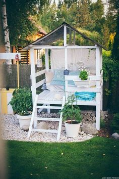 She Sheds to Fuel Your Daydreams Make an adorable garden playhouse or she shed in your backyard with this easy outdoor DIY project.Make an adorable garden playhouse or she shed in your backyard with this easy outdoor DIY project.